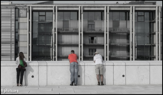 trio en tejado